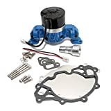 Assault Racing Products 6030203 for Small Block Ford Blue Aluminum Electric Water Pump HV SBF 289 302