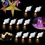 Small Party Rope Light for Paper Lantern Balloons 10 Pacs, WHATOOK LED Outdoor&Indoor Battery Operated Lantern Light for Wedding Birthday Garden Halloween Christmas Decoration Warm White