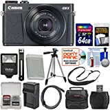 Canon PowerShot G9 X Mark II Wi-Fi Digital Camera (Black) with 64GB Card + Case + Flash + Battery & Charger + Tripod + Strap + Kit