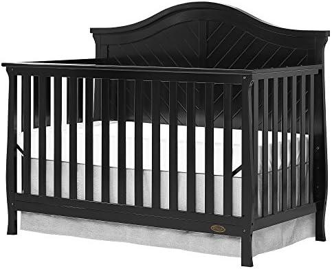 Amazon Com Dream On Me Kaylin 5 In 1 Convertible Crib Black Baby