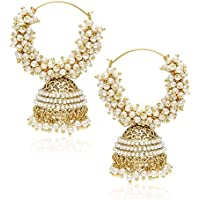 YouBella Golden Plated Hoop Earrings for Women (Golden)(YBEAR_7890_FOF)