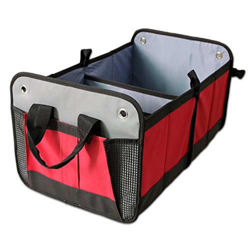 Collapsible Car Trunk Organizer, Heavy Duty Construction,