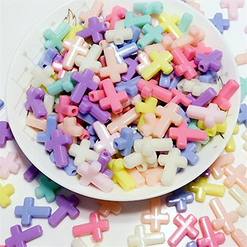 Charm Plastic (Acrylic Cross Beads, 0.63
