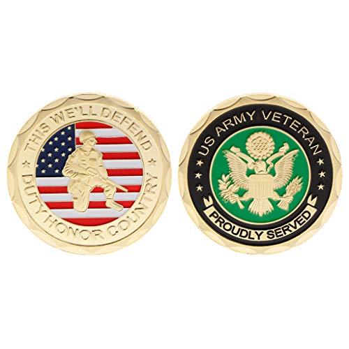 Qingchin Commemorative Coin US America Army Veteran Honor Collection Souvenir Collectible Coins Art Crafts Commemorate Alloy