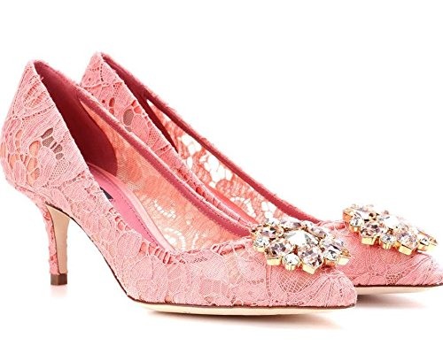 Dolce & Gabbana Women's Fashion Pumps Pink EU 37,5 (7,5 B(M) US)