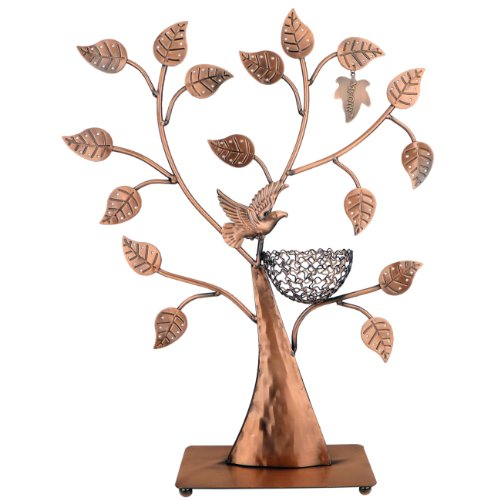 MyGift® Jewelry Tree w/ Bird Nest 48 pair Organizer