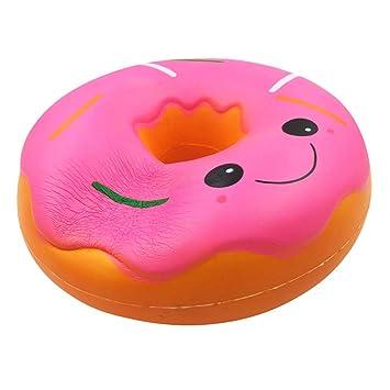 ALIKEEY Blandos ♈ Jumbo Gigante Donut Lento Levantamiento Fruta Perfumado Alivio De Estrés Juguete Regalo Sexual Gato Antiestres Giratorio Madera Animales: ...