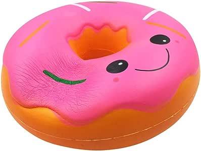 ALIKEEY Blandos ♈ Jumbo Gigante Donut Lento Levantamiento Fruta Perfumado Alivio De Estrés Juguete Regalo Sexual Gato Antiestres Giratorio Madera Animales: Amazon.es: Juguetes y juegos