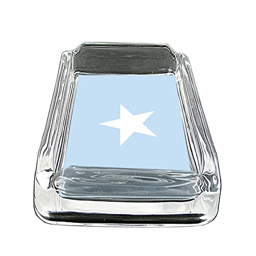 """Somalia Flag Em1 Glass Ashtray Smoking/Coin Holder 4""""x3"""" Heavy Duty Decorative Easy Clean Great For Bars And Patios"""