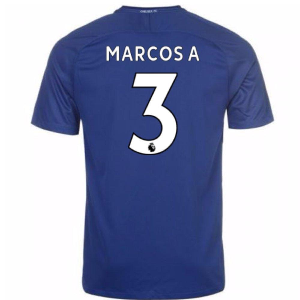 2017-18 Chelsea Home Shirt (Marcos A 3) B077PV6MPRBlue XXL 50-52\