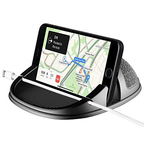 WIFORT Car Phone Holder Dashboard Non-Slip,Universal Car Mount for Mobile Phone,Car Cell Phone Holder Hand Free for iPhone 11 pro max Xs Max XR X 8 7 Samsung Galaxy Note 10 Plus S9 S8, and More