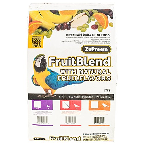 ZuPreem Fruit Blend Bird Food With Natural Fruit Flavors, Parrots and Conures, 17.5 Pound (Conure Fruit Blend)