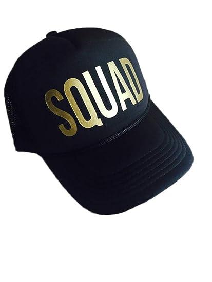 77f866c4ce7 Bride Squad Bachelorette Hats Hen Party Beach Cap Snapback Hat Wedding  Party (Black SQUAD)