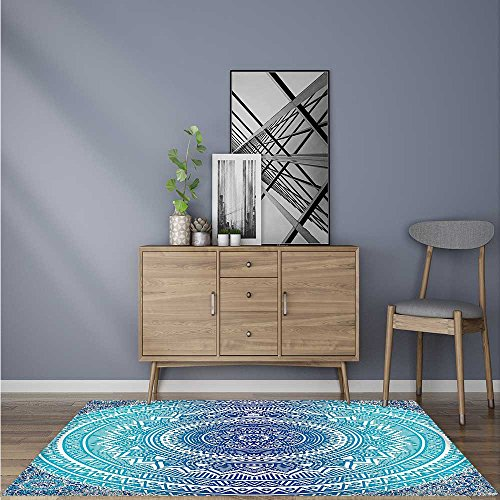 - Anti-Slip Thick Rug ritual Ritual Symbol of Universe Cultural Center Point Balance Meditati Theme Non-Toxic, Non-Slip 6' X 9'
