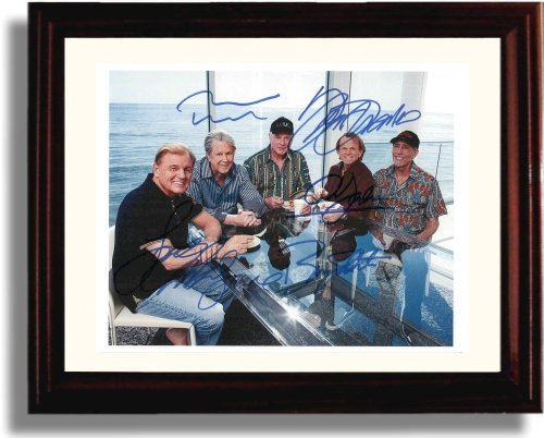 - Framed Beach Boys Autograph Replica Print