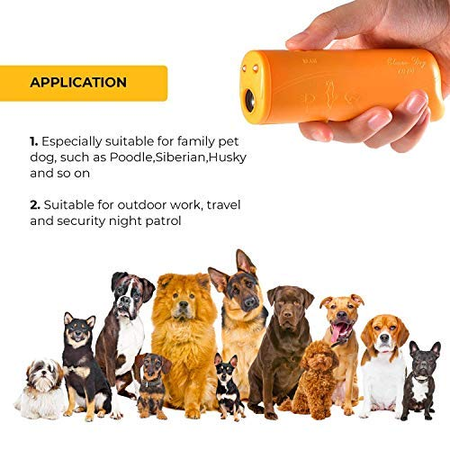 Lybrist [Upgraded Version Led 3 in 1 Anti Barking Device Stop Bark Ultrasonic Pet Dog & Cat Repeller and Dog Training Device Trainer