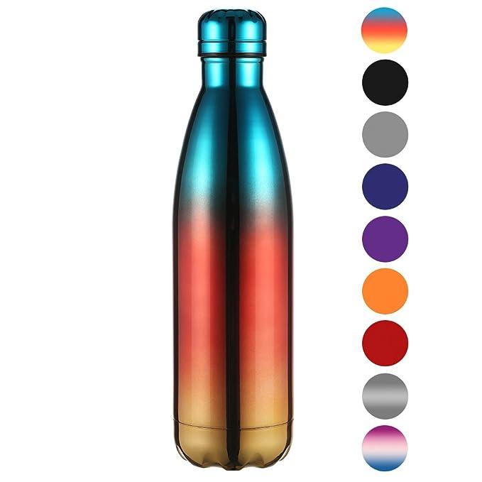 Ecooe Thermosflasche 750ml doppelwandig Trinkflasche Edelstahl ...