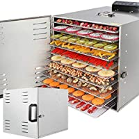 Fruits Vegetable Dryer Meat Or Beef Jerky Maker with10 Stainless Steel Trays Smart Touch Operation Temperature Control…