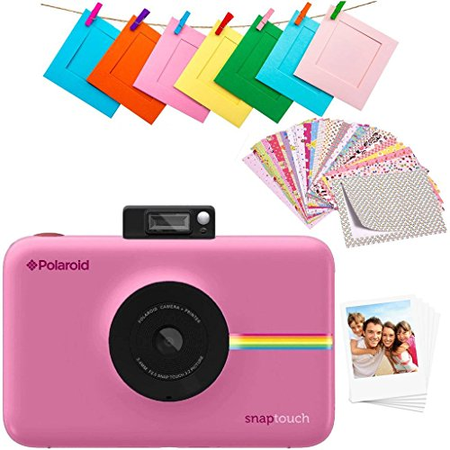 Polaroid SNAP Touch 2.0 – 13MP Portable Instant Print Digital Photo Camera w/Built-In Touchscreen Display, Pink