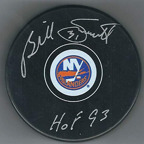 Autographed Billy Smith New York Islanders Hockey Puck