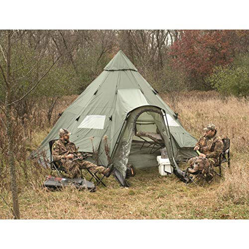 Guide Gear Deluxe 18′ x 18′ Teepee Tent