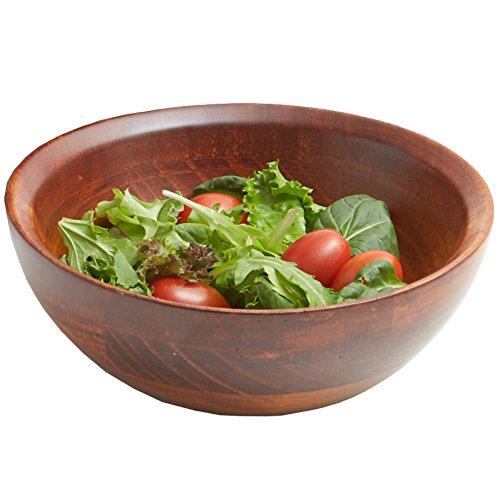 Woodard & Charles 7-Inch Wooden Individual Salad Bowl, Cherry Finish