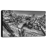 Gotham City 13-2 Framed Print 30.0''x45.0'' by Moises Levy