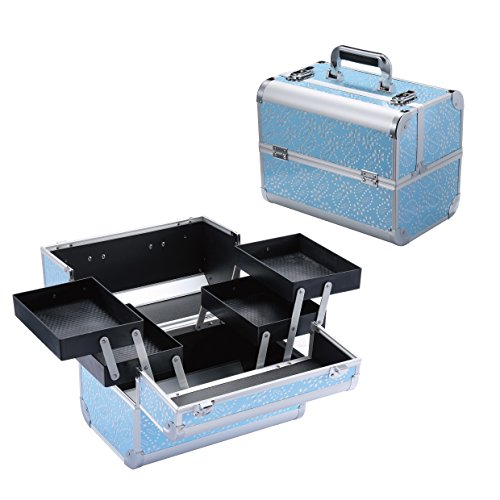 Long Aluminum Inner Side Box - Makeup Train Case - Professional 14