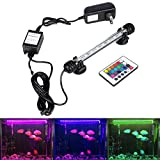 GreenSun LED Lighting 18cm LED Aquarium Light, Fish Tank Light with Remote Control, RGB Colors, 2 Watts Submersible Waterproof Strip Bar Light