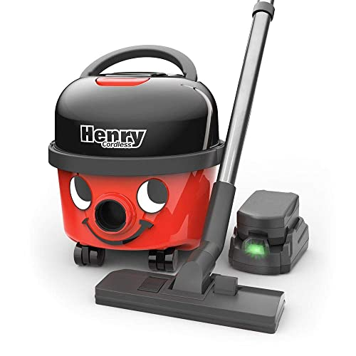Numatic NaceCare Henry Cordless Compact Canister Vacuum Cleaner HVB 160-2 Batteries Included, 2 Speed Selection, with Professional AS29E Accessory Set