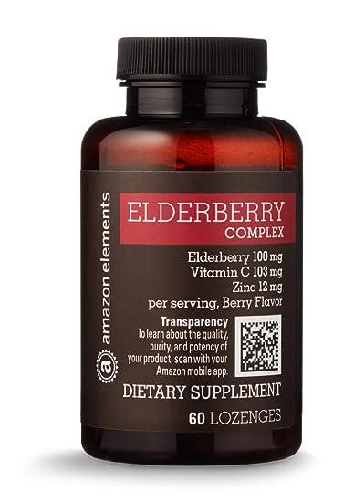 Amazon Com Amazon Elements Elderberry Complex 60 Berry Flavored