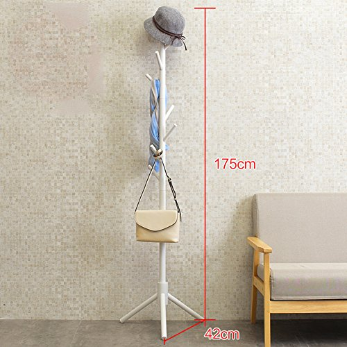 Bamboo wooden clothes rack,Multifunctional coat rack simple
