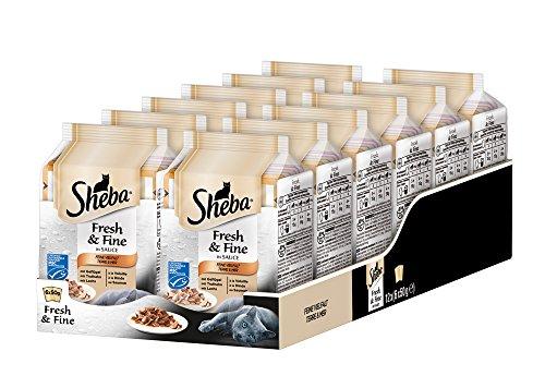 Sheba Fresh & Fine in Sauce – Nassfutter für Katzen – Für die tägliche Abwechslung im extra kleinen Portionsbeutel…