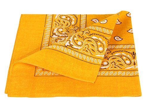 X chiaro 54 Cm arancione accessorio cotone Sciarpa 100 Bandana Paisley circa 55 nxBIvgq