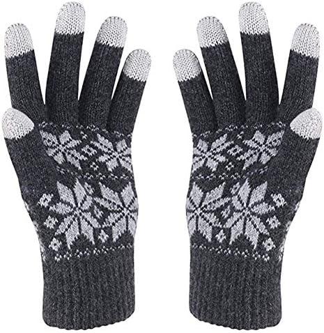 冬のタッチスクリーングローブ、クリスマスプレゼント、メンズとレディース、ウォームライニング、スポーツランニング、スキー、保護に適しており、手を凍結することはありません(フリーサイズ)