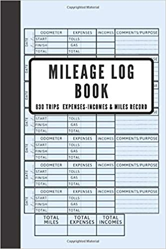 Amazon Com Mileage Log Book Business Vehicle Tracking Book Miles Expenses Incomes Log Book Vehicle Mileage Journal Auto Mileage Record 630 Trips 6 X 9 Inch 10 Pages For Summary And Results