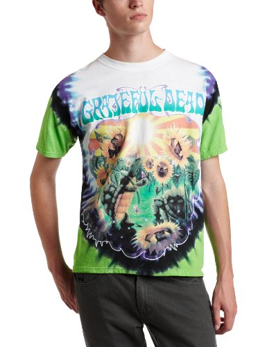 (Liquid Blue Men's Grateful Dead Sunflower Terrapin Tie Dye T-Shirt, Multi, Medium )
