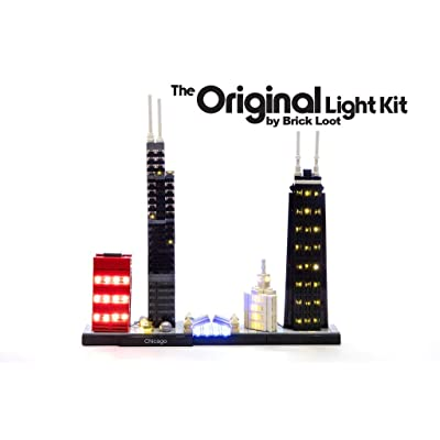 Brick Loot Deluxe LED Light Kit for Your Lego Architecture Skyline Collection Chicago Set 21033 (Lego Set Not Included): Toys & Games
