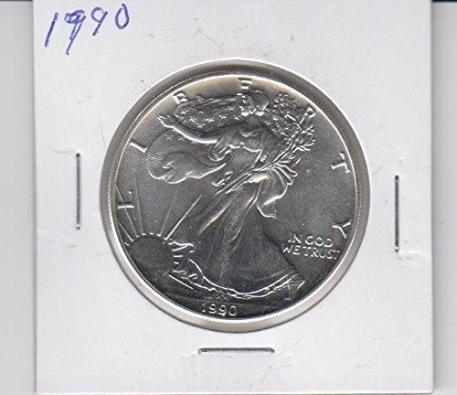 1990 American Silver Eagle 1 Ounce Silver Dollar coin Dollar Brilliant Uncirculated