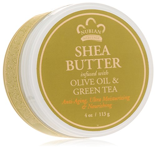 - Nubian Heritage Shea Butter Lotion, Olive and Green Tea, 4 Ounce