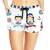 Bahuluo Swimming Trunks for Women Sail Couple - White