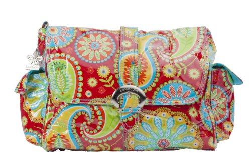 Kalencom Fashion - Bolso cambiador con accesorios, diseño de lunares, color marrón y azul rosso