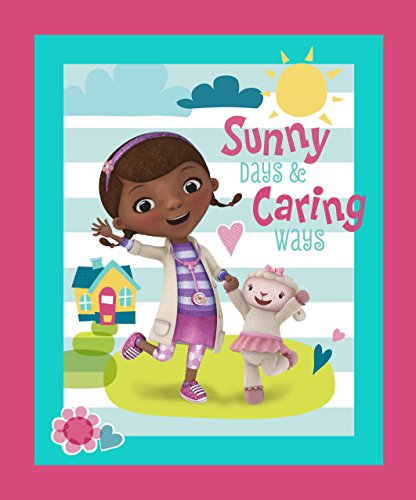Doc Mcstuffins Sunny Days and Caring Ways Panel Fabric by...