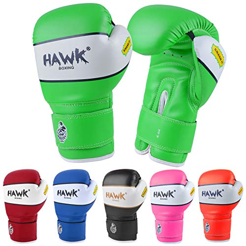 Hawk Sports Kids Boxing Gloves for Kids Children Youth Punching Bag Kickboxing Muay Thai Mitts MMA Training Sparring Gloves (Green, 4 oz)