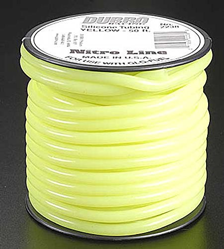Du-Bro 2238 50' Yellow Nitro - Fuel Tubing Silicone 50 Dubro