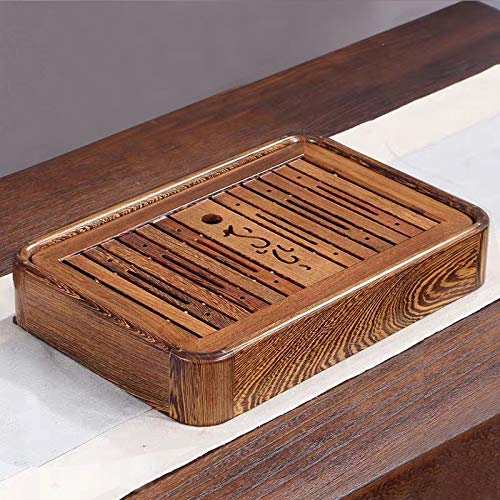 Household Wenge Water Storage Tea Tray Kung Fu Teaware, Size: 36 x 24 x 6cm for home by TTDY