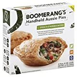 chicken and mushroom pie - BOOMERANGS Handheld Aussie Pies, Spinach & Mushroom, 12 Ounce (Pack of 6)