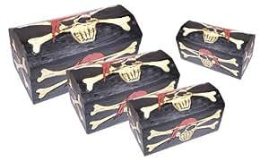 Madera spielerei PU1040–0–Piratas Caja Captain Jack Set