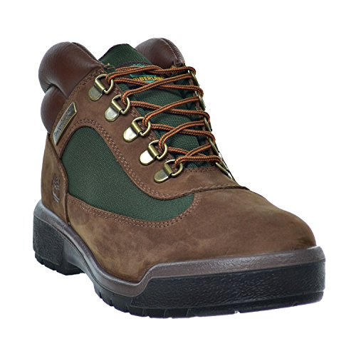 (Timberland Men's Waterproof Field Boots Brown/Green Brown/Green 10025-8.5)