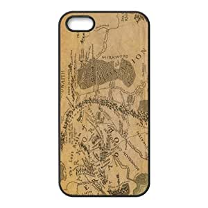 Brown Map Fashion Comstom Plastic case cover For Iphone 5s